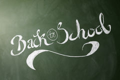 Back to school handwritten on chalkboard Royalty Free Stock Photos