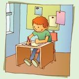 Back to school. Happy children at school classroom stock illustration