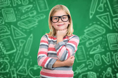 Back to school - happy kid with books and letters Royalty Free Stock Images