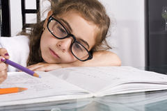 Back to school Homework Royalty Free Stock Photography