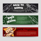 Back to school horizontal banners Royalty Free Stock Photo
