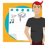 Back to school icon graphic Royalty Free Stock Photography