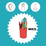 Back to school. Icon graphic design,  illustration clip art Stock Photos