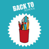 Back to school. Icon graphic design,  illustration clip art Royalty Free Stock Photos