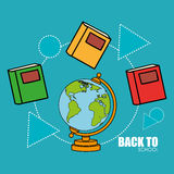 Back to school. Icon graphic design,  illustration clip art Royalty Free Stock Images