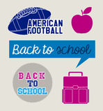Back to school icon Royalty Free Stock Images