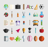 Back to School icon, illustration  Royalty Free Stock Photography