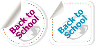 Back to school icon. Internet button Stock Image