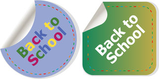 Back to school icon. Internet button. Education Stock Photography