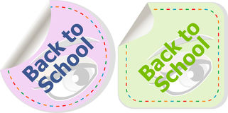 Back to school icon. Internet button. Education Stock Photos