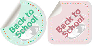Back to school icon. Internet button. Education Royalty Free Stock Image