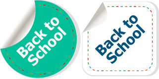 Back to school icon. Internet button. Education concept Stock Photography