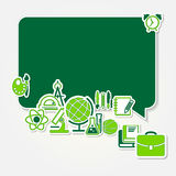 Back to school and icon set Stock Images