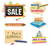 Back to school - icon set. Stock Image