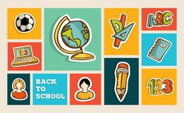 Back to school icon set Stock Photography