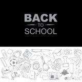 Back to school icon set Stock Photos