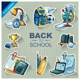 Back to school icon set Royalty Free Stock Photo
