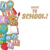 Back to school icon set design Royalty Free Stock Photos