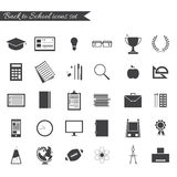 Back to school icon set Royalty Free Stock Images