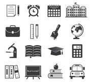 Back to school icon set Royalty Free Stock Photo