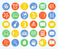 Back to school icon set Royalty Free Stock Photos