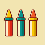 Back to School icon vector illustration Royalty Free Stock Images