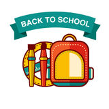 Back to School icon vector illustration Royalty Free Stock Photography