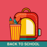 Back to School icon vector illustration Royalty Free Stock Photos