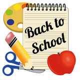 Back to school. Icon on white background Royalty Free Stock Images