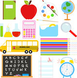 Back to School icons Royalty Free Stock Photography