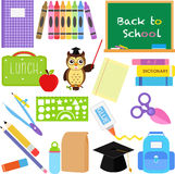 Back to School icons Royalty Free Stock Photo