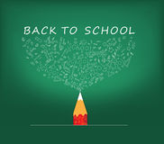 Back to School icons education pencil Stock Photos