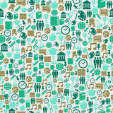 Back to School icons education seamless pattern. Stock Photos