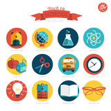 Back to school - icons Stock Photo