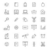 Back To School Icons. 30 School line icons. Icons for education Stock Image