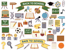 Back to school icons Stock Photos