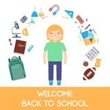 School icons illustration Royalty Free Stock Images