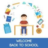 School icons illustration Stock Image