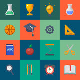 Back to school icons set vector illustration Royalty Free Stock Images