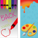 Back to school. Icons on special background Stock Photos