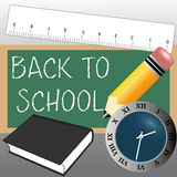 Back to school. Icons on special gradient gray background Stock Photos