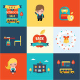 Back to school icons Stock Images
