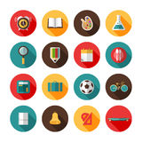Back to school icons. Royalty Free Stock Image