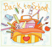 Back to school, icons, vector illustration. Stock Photos