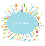 Back to school, icons, vector illustration. Royalty Free Stock Photos