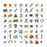 Back to school, icons for your design Royalty Free Stock Photography