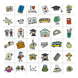 Back to school, icons for your design Royalty Free Stock Image