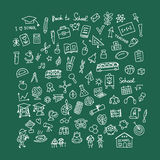 Back to school, icons for your design Stock Image