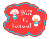 Back to school illustration Royalty Free Stock Photography