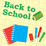 Back to school,  illustration Royalty Free Stock Images
